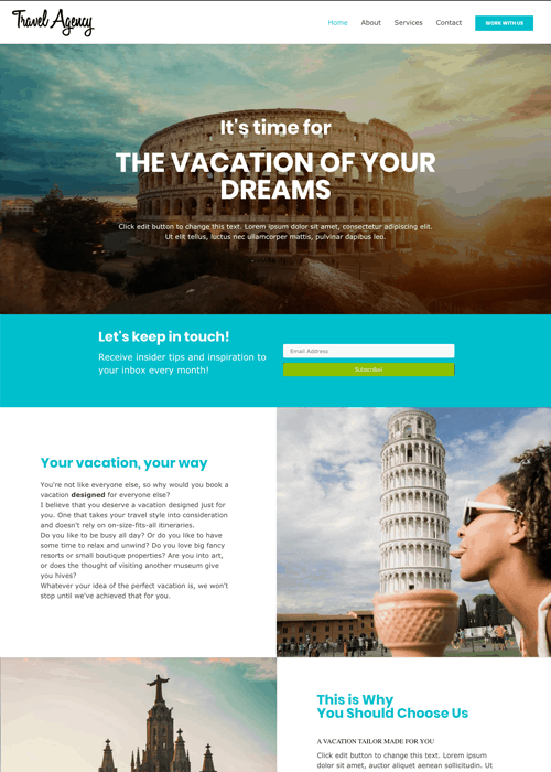 Travel Genius Websites Paralax Theme