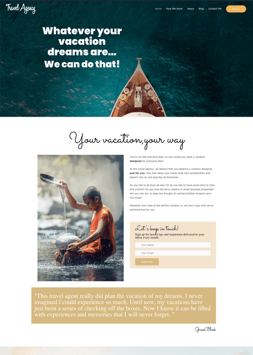 Travel Genius Websites Luxe Theme